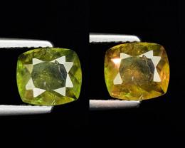 1.23 Ct Natural Sphene Color Change Sparkiling Luster Gemstone. SN 54