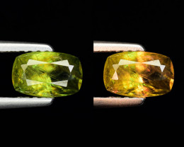 0.73 Ct Natural Sphene Color Change Sparkiling Luster Gemstone. SN 60