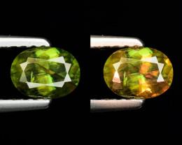 0.62 Ct Natural Sphene Color Change Sparkiling Luster Gemstone. SN 65