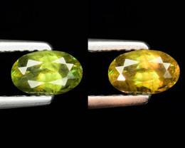 0.50 Ct Natural Sphene Color Change Sparkiling Luster Gemstone. SN 66