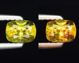 0.51 Ct Natural Sphene Color Change Sparkiling Luster Gemstone. SN 67