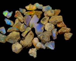 97.0Cts Ethiopian Welo Rough Opal Parcel Lot