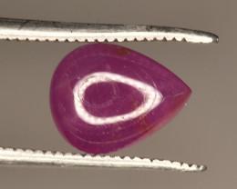 Natural Ruby Cabochon Transparent Piece 1.55 Carats