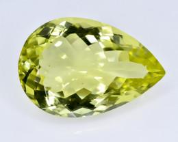 20.78 Crt Lemon Quartz Faceted Gemstone (Rk-15)