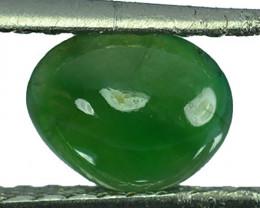 ~UNTREATED~ 1.66 Cts Natural Green Jade Cabochon Burmese Gem