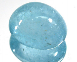 ~AMAZING~ 7.72 Cts Natural Aquamarine Beautiful Blue Cabochon Brazil