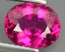2.35 CTS SPARKLING PINK TOURMALINE OVAL NATURAL TOP LUSTRE MOZAMBIQE!!!