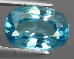 3.10 CTS EXTREME OVAL NATURAL RARE BLUE ZIRCON EXCELLENT!!