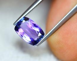 2.06ct Natural Violet Blue Tanzanite Octagon Cut Lot D395