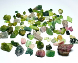 Amazing Natural max color rough Tourmaline parcel 250Cts- T.H.R#6