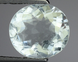 1.59 Ct Natural Aquamarine Top Luster Gemstone. AQ 22