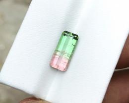 2.90 Ct Natural Bi Color Transparent Tourmaline Gemstone