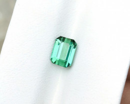 1.70 Ct Natural Blueish Green Transparent Tourmaline Gemstone