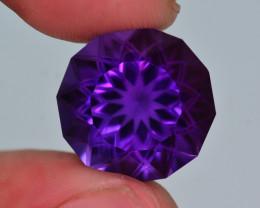 13.70 Ct Beautiful Color Natural Amethyst. HM