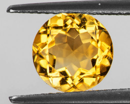 9.00 mm Round 2.62cts Golden Yellow Citrine [VVS]