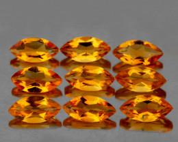 8x4 mm Marquise 9 pcs 4.40cts Golden Orange Citrine [VVS]