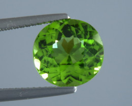 3.87ct Round cut Apple Green Colour Peridot From Pakistan