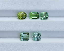 5.65 Carats Natural Color Tourmaline Gemstones Parcel