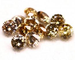 Champagne Diamond 0.78Ct Natural Brilliant Cut Champagne Diamond A150