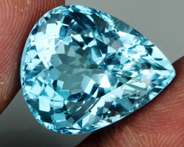 19.34 ct. Natural Swiss Blue Topaz Top Quality Gemstone Brazil