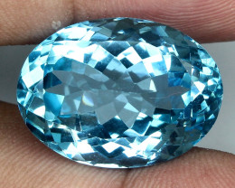 26.38 ct. Natural Swiss Blue Topaz Top Quality Gemstone Brazil