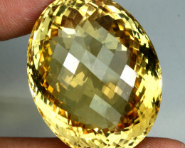96.09 Ct. 100% Natural Top Yellow Golden Citrine Unheated Brazil Big!