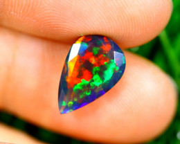 1.55cts Natural Ethiopian Smoked Faceted Black Opal / RD1067