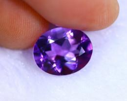 3.20cts Natural Violet Color Amethyst / RD1071