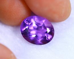 3.47cts Natural Violet Color Amethyst / RD1075