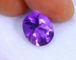 3.56cts Natural Violet Color Amethyst / RD1078