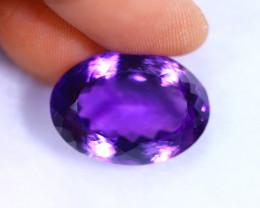 19.48cts Natural Violet Color Amethyst / RD1079