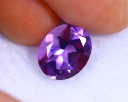 3.20cts Natural Violet Color Amethyst / RD1080
