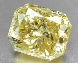 1.04 Cts Untreated Fancy Yellow Color Natural Loose Diamond