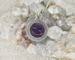 AMETHYST  PENDANT 925 STERLING SILVER NATURAL GEMSTONE JP268