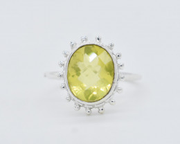 LEMON RING 925 STERLING SILVER NATURAL GEMSTONE JR350