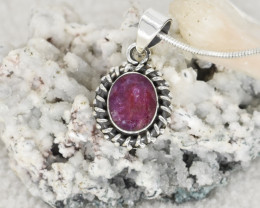 RUBY PENDANT 925 STERLING SILVER NATURAL GEMSTONE JP248