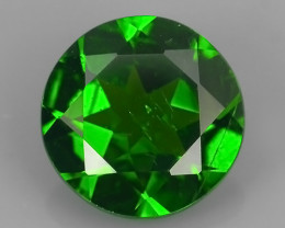 1.45 Cts MARVELOUS RARE ROUND NATURAL TOP GREEN- CHROME DIOPSIDE~