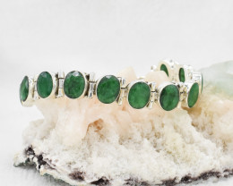 EMERALD BRACELET NATURAL GEM 925 STERLING SILVER JB230