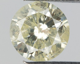 Yellow Natural Diamond , Loose Diamond gemstone , 0.50 cts