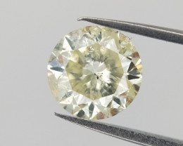 0.714 cts , Bright Yellow Diamond  , Diamond With Natural Inclusions