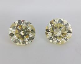 Diamond Pair , Loose Gemstone Pair , 1.03 cts