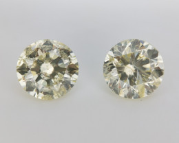 Natural Diamond Pairs , Diamonds For Earrings , 1.03 cts