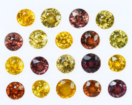 17.75Ct Natural Multi colour Zircon Round 6mm Parcel