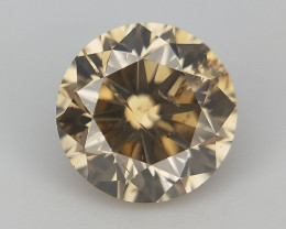 Brown Natural Diamond , Slight Inclusion , SI purity Diamond , 0.45 cts
