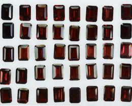 49.18Ct Natural Almandite garnet Octagon 7 X 5mm Parcel