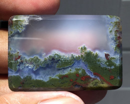 78.90 CT EXOTIC TREE PICTURE MOSS AGATE INDONESIA