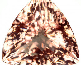 31.88Ct Natural Peach pink Morganite Trillion Brazil