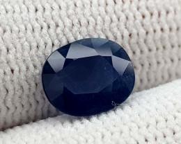 1.35CT NATURAL BLUE SAPPHIRE HEATED  BEST QUALITY GEMSTONE IIGC10