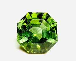 8.16 cts Asscher cut natural green tourmaline - NO inclusions