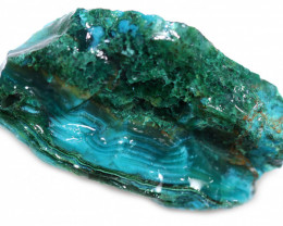 85.00 CTS CHRYSOCOLLA  WITH GEM SILICA - BRAZIL [F8764]
